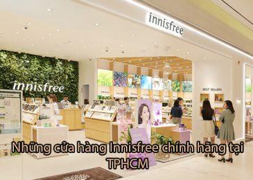 Top 5 cửa hàng Innisfree chính hãng tại TpHCM gần đây