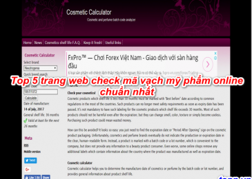 Top 5 trang webs check mã vạch mỹ phẩm online chuẩn nhất