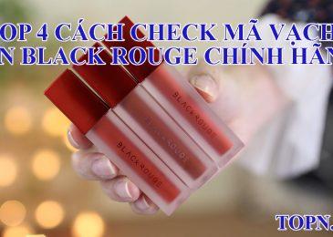 Top 4 cách check mã vạch son Black Rouge chính hãng