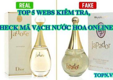 Top 5 webs kiểm tra, check mã vạch nước hoa online