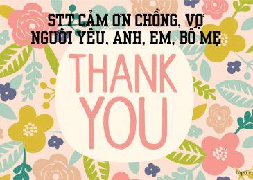 Top 27 stt cảm ơn chồng, vợ, người yêu, anh, em, bố mẹ